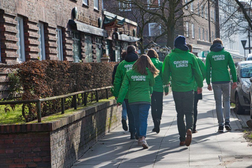GroenLinksers op campagne